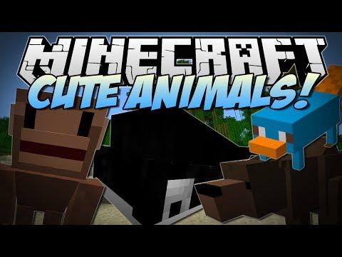 Minecraft | CUTE ZOO ANIMALS! (Ferocious Bear Attack!!) | Mod Showcase