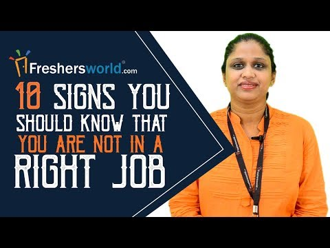 10 Signs you should know that you are not in a Right job - Career Guidance video