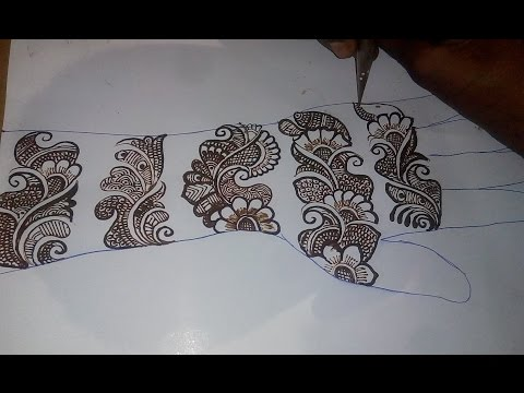 how to apply easy simple mehndi design | Mehndi learn round bail style step by step
