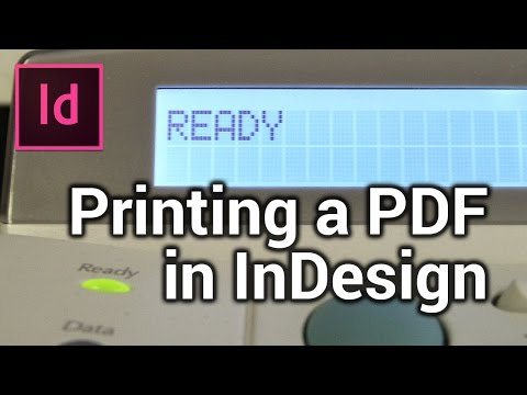 Printing a flyer using PDF - Make a flyer in InDesign [6/6]