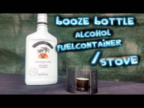 Recycled/Salvaged Liqour Bottle Alcohol Fuel Container and Stove🔥2 in 1 Multi Use Gear Item🔥