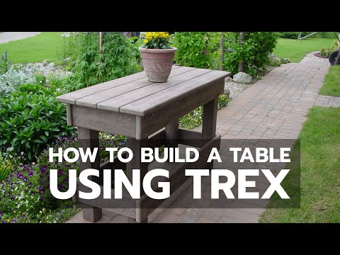 WOODWORKING: How to Build a Table Using TREX
