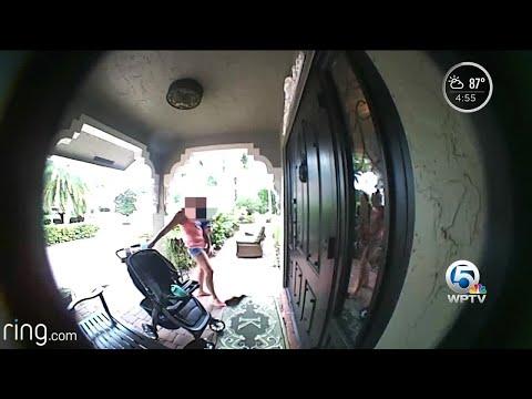 Doorbell camera records suspicious activity at Boca Raton home