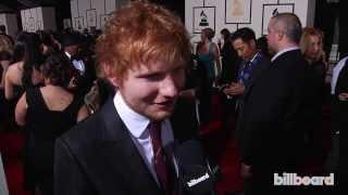 Download Ed Sheeran on the GRAMMYs Red Carpet 2014 Video