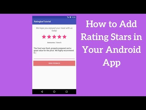 Android Ratingbar Example – Adding Rating Stars in Your App (Demo)