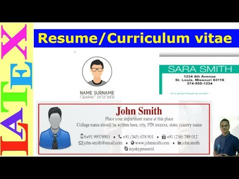 How to Prepare a Resume/Curriculum vitae (CV) in LaTeX (Latex Tutorial, Episode-29)