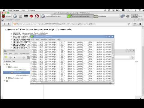 Importing a Database into MySQL on a RPi