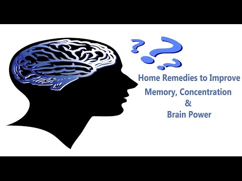 Home remedies to improve memory, Concentration and Brain Power(Hindi)