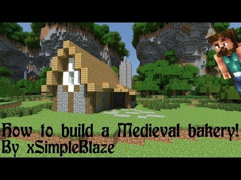 Minecraft Tutorial - How To Build A Medieval Bakery