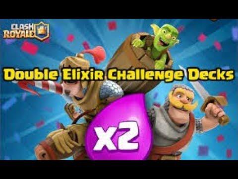 2X ELIXIR CHALLENGE PRO DECK TIPS - Clash Royale!