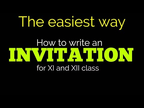 Invitation writing for 11th and 12th class