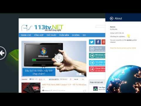 Firefox Aurora 26 on Windows 8