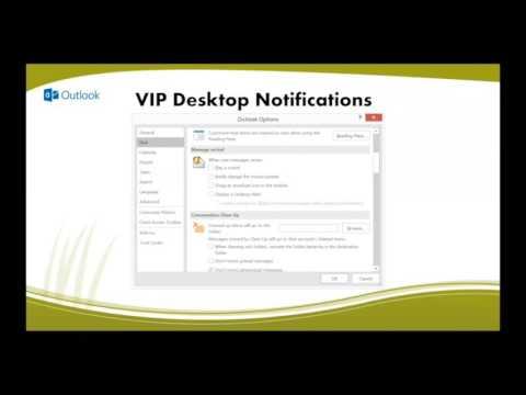 Desktop Notifications in Outlook 2016