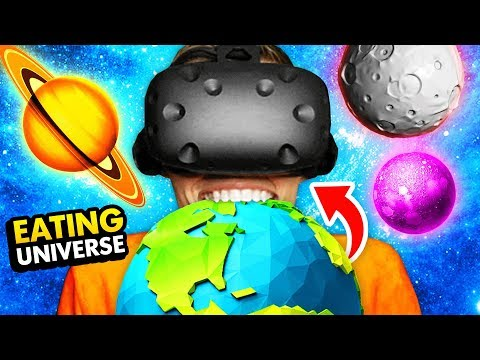 EATING THE ENTIRE UNIVERSE IN VIRTUAL REALITY (Funny GrowRilla VR Gameplay)