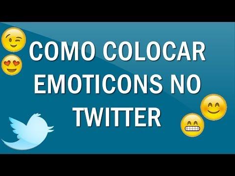 Como colocar emoticons no Twitter