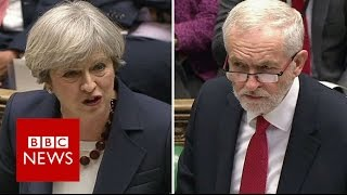 PMQs: May and Corbyn set out election