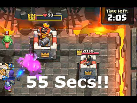 3 Crown Victory in less than 60 Seconds!! (F2P Account) | Clash Royale