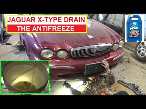 Jaguar X-TYPE How to Drain the Coolant / Antifreeze. Jaguar XTYPE X TYPE