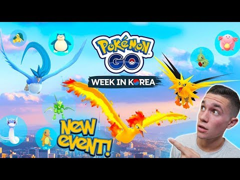 NEW POKÉMON GO EVENT! LEGENDARY BIRDS, INCREASED SPAWNS, UNOWN + MORE IN KOREA!