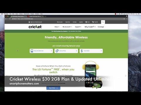 Cricket Wireless $30 2GB Plan & Updated Unlimited Plans