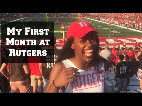 My First Month at Rutgers || College Vlog #10