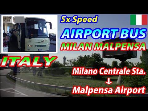 5x MALPENSA BUS Milano Centrale Station → Malpensa Airport (Passenger's View)