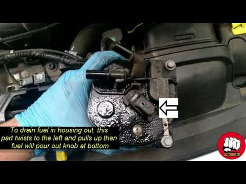 ford duratorq diesel fuel filter replacement