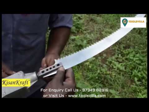 Oil Palm Harvester - Pruning Saw Blade | Demo - DIY