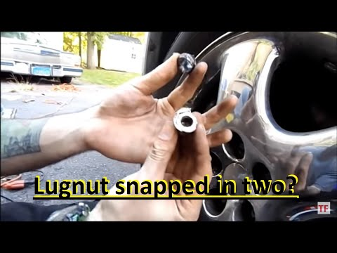 How To: remove a sheared off lugnut