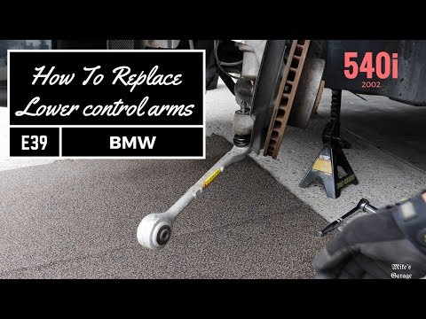 Tutorial. How to replace Front lower control arms, without special tool on BMW e39 540i M5