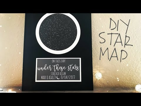How to Make a Star Map | Print and Cut on Cricut Design Space | DIY Personalized Wedding Gift