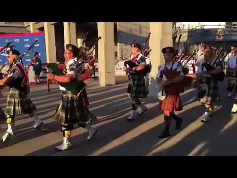 The Gordon Pipers at the Indianapolis 500