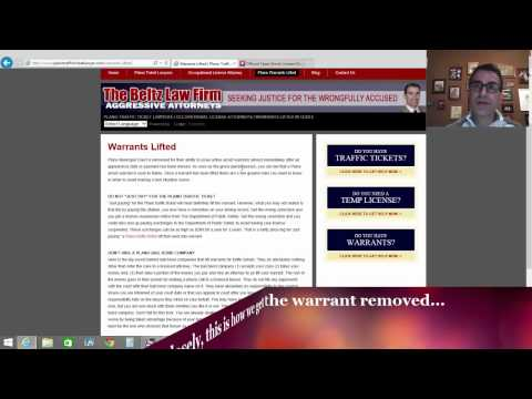 How To Get Warrants Lifted In Plano, Texas