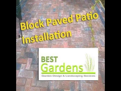 Block Paved Patio Installation (Photo Montage)