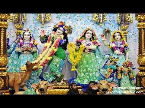 Sri Sri Radha Gopinath Temple Shayan Arati Darshan 30th May 2018 Live from ISKCON Chowpatty,Mumbai