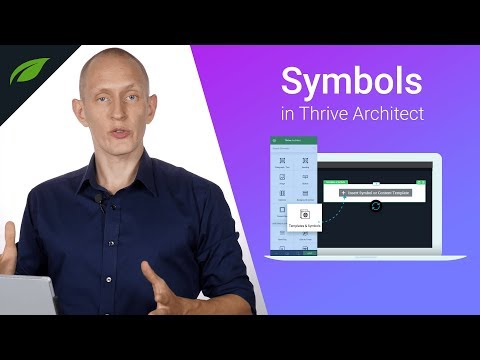 Symbols Feature in Thrive Architect