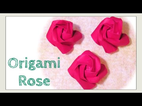 Origami Rose - How to Fold Origami Rose - More Easy Kawasaki Rose Paper Craft