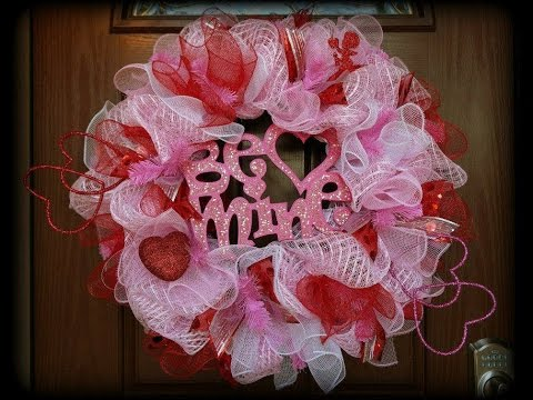 Valentine's Day Deco Mesh Wreath