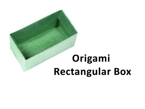 How to make an origami Rectangular Box