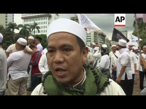 Protest against Jakarta's Christian governor