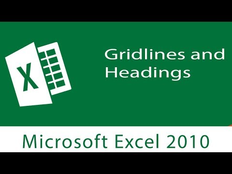 Excel : Gridlines and Headings | Printing Preparations