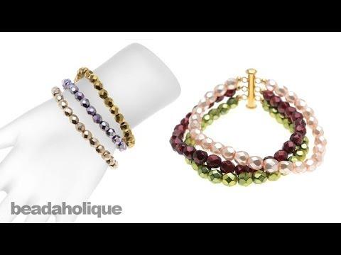 Instructions for Making the Ashley Multi-Strand Bracelet Kit
