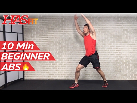 10 Min Easy Abs Workout for Beginners & People Who Get Bored Easily - Beginner 10 Minute Ab Workout