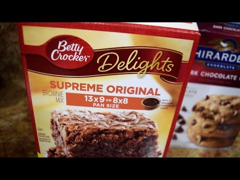 How to make Betty Crockers brownies and cookie mix