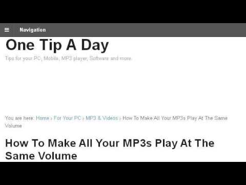 How-To Make Your Itunes Music Have The Same Volume