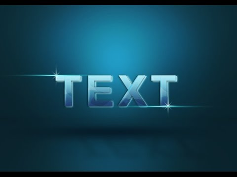Tutorial Photoshop cs5 3D Text Glass
