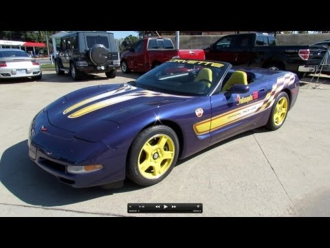1998 Chevrolet Corvette Indianapolis 500 Pace Car Start Up, Exhaust, and In Depth Review