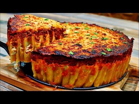 Cheesy Pasta Pie Recipe - Delicious Italian Pasta Recipe
