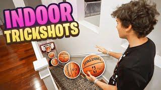 *CRAZY* INDOOR 2HYPE MINI HOOP BASKETBALL TRICKSHOTS!!