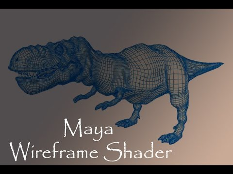 How to show wireframe in maya render